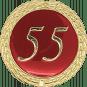 Auflage mit Schriftzug 55 Jahre rot