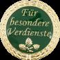 Auflage mit Schriftzug Für besondere Verdienste grün