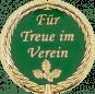Auflage mit Schriftzug Für Treue im Verein grün