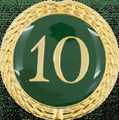Auflage mit Zahl 10 grün