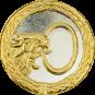 Auflage Adlerkopf mit Ring silber/gold