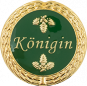 Auflage mit Königinschriftzug grün