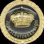 Auflage mit Krone + Jungschützenköniginschriftzug schwarz