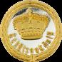 Auflage mit Krone + Schützenkönigschriftzug silber/gold
