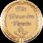 Auflage mit Schriftzug Für Treue im Verein gold
