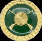 Auflage mit Schützenmotiv grün