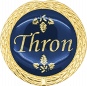 Auflage Thron blau