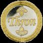 Auflage Thron silber/gold