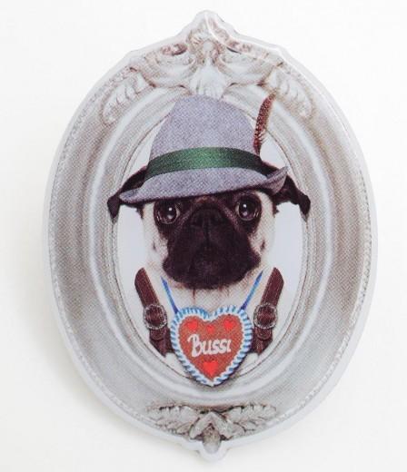 """Oktoberfestpin """"Mops Bussi"""""""