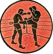 Emblem 50mm 2 Kickboxer, bronze