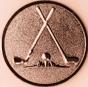Emblem 50mm 2xGolfschläger, bronze