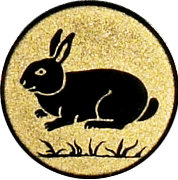 Emblem 50mm Hase, gold