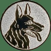 Emblem 50mm Schäferhund, silber