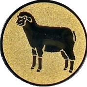 Emblem 50mm Schaf, gold