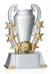 Trophäe Pokal mit Fußball & 6 Sternen FS16906