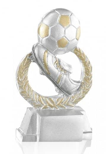 Pokal Fußball mit Schuh & Kranz FS15902