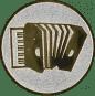 Emblem 25mm Akordion, silber