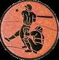 Emblem 25mm Baseball 2 Spieler, bronze