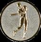 Emblem 25mm Baseball Spieler, silber