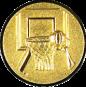 Emblem 25mm Basketball m. Korb 3D, gold