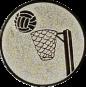 Emblem 25mm Basketball m. Korb, silber