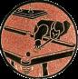 Emblem 25mm Billardspieler links, bronze