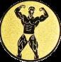 Emblem 25mm Bodybuilding mänl., gold