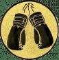 Emblem 25mm Boxhandschuhe, gold
