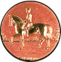 Emblem 25mm Dressurreiter 3D, bronze