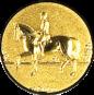 Emblem 25mm Dressurreiter 3D, gold