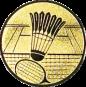 Emblem 25mm Federball m. Netz, gold