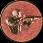 Emblem 25mm Gewehrschütze rechts 3D, bronze schießen