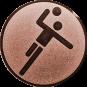 Emblem 25mm Handball Symbol, bronze