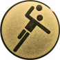Emblem 25mm Handball Symbol, gold