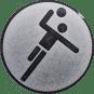Emblem 25mm Handball Symbol, silber