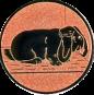 Emblem 25mm Hase mit Schlappohren, bronze