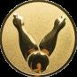 Emblem 25mm Kegel 2, gold