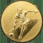 Emblem 25mm Kegeln 3D, gold