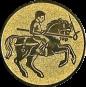 Emblem 25mm Lanzen-Reiter, gold