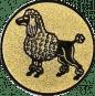Emblem 25mm Pudel, gold