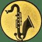 Emblem 25mm Saxophone, gold