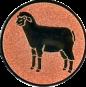 Emblem 25mm Schaf, bronze