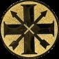 Emblem 25mm Schützenkreuz, gold schießen