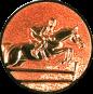 Emblem 25mm Springreiter 3D, bronze