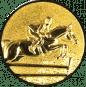 Emblem 25mm Springreiter 3D, gold