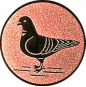 Emblem 25mm Taube links, bronze