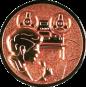 Emblem 25mm Tonaufnahme, bronze
