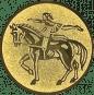 Emblem 25mm Voltigieren, gold