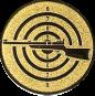 Emblem 25mm Zielsch. mit Gewehr links, gold schießen