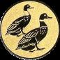 Emblem 25mm 2 Enten, gold